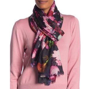 BINDYA Floral Cashmere & Silk Blend Scarf